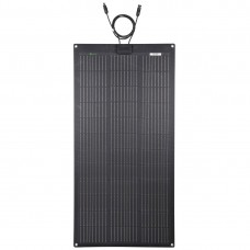 LENSUN 105W 12V ETFE Black Flexible Solar Panel, PERC 9BB 23.5% Mono Solar cells, for RVs,Boats Battery Charge