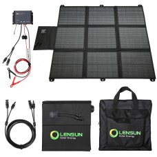 Lensun 200W Solar Blanket Kit with Waterproof MPPT  Controller and  5m/16ft Cable, Ready to Charge 12V Battery and Solar Generator