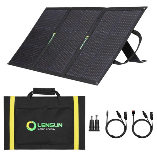 Lensun 100W 12V ETFE Foldable Solar Panel with MC4 Connector for Solar Power Station(Jackery GoalZero Rockpals) RV, Boats