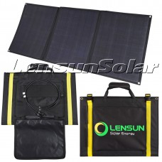 Lensun ETFE 100W 12V Foldable Flexible Solar Panel kit with MC4 Connector, waterproof solar controller. 5m cables,Portable Foldable Ultralight for Camping Van, Caravan, Motorhomes and RVs