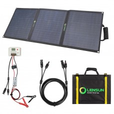 Lensun 100W 12V ETFE Flexible Folding Solar Panel Kit, with 10A Controller, 5m cables, for RVs, Campers, 4WD, Outdoor Off Grid Charge