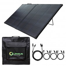 Lensun 110W 12V Waterproof Foldable Solar Panel Suitcase with Kickstand, 16ft/5m Cable for Solar Generator Power Station RV Camper 12V Battery Charging