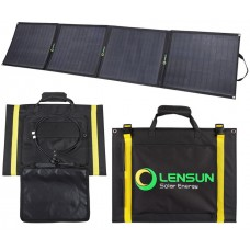 Lensun 160W ( 4 x 40W) 12V ETFE Flexible Folding Solar Panel with MC4 Connector,Charging for Solar Power Station, RV, Boat, Cabin,Tent Car