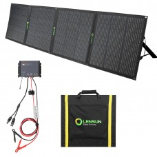 Lensun 200W 12V Foldable Solar Panel Kit with Waterproof MPPT Solar Controller, battery clips for RV/Camper Boat Battery Charge
