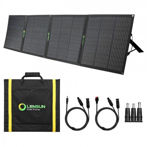 Lensun 200W ( 4x50W) 12V Foldable Solar Panel for GoalZero Yeti, Jackery, Rockpals, EF ECOFLOW... etc Solar Power Station