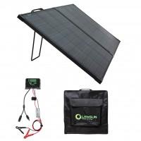 Lensun 110W 12V Waterproof Foldable Solar Panel Suitcase with Kickstand, Waterproof Solar Panel for Battery and Solar Generator Charging