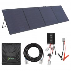 Lensun Innovative Waterproof 300W Folding Solar Panel With Lightweight Aluminium Frame, Waterproof MPPT Solar Controller, Battery Clips, Ready to Charge Battery