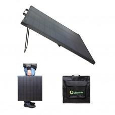 LENSUN Innovative 55W 12V Solar Panel with Kickstand, Lightweight, Waterproof, Super Thin for RV Campers Power Station Camping, Only 4.4 lbs/2kgs