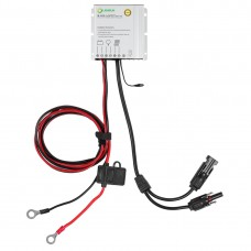 Lensun 10A Waterproof MPPT Solar Regulator Battery Charger Controller with Battery Clips and MC4 Connectors