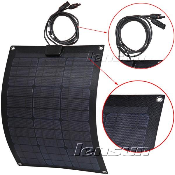 Lensun 174 50w 12v Etfe High Quality Fiberglass Black