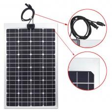 Lensun® 50W 12V ETFE Flexible Solar Panel,Only 2.5mm Thin, Light for VW volkswagen T4 Camper Bus