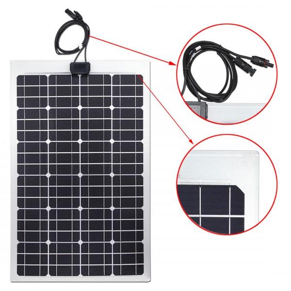 Lensun® 50W 12V ETFE Flexible Solar Panel,Only 2 5mm Thin