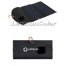 Best Solar Waterproof Phone charger Lensun ETFE Laminated 14W Folding Solar Charger, Portable foldable for iPhone,iPads,Power Bank, and Other 5V USB-Charged Devices