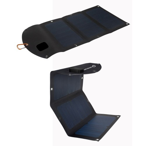 Best Waterproof Solar Phone charger Lensun ETFE Laminated 21W Folding Solar Charger, Portable foldable for iPhone,iPads,Power Bank, and Other 5V USB-Charged Devices