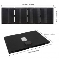 Waterproof Lensun 100W ETFE Laminated Technology Foldable Solar Panel with USB 5V and DC 18V Output for iPhone, Tablet, Laptop, Solar Generator Power Sations