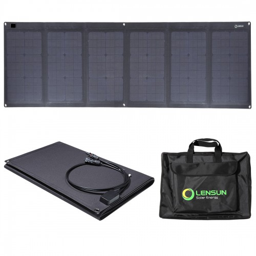 Waterproof Lensun 100W ETFE Laminated Technology Foldable Solar Panel with Bag