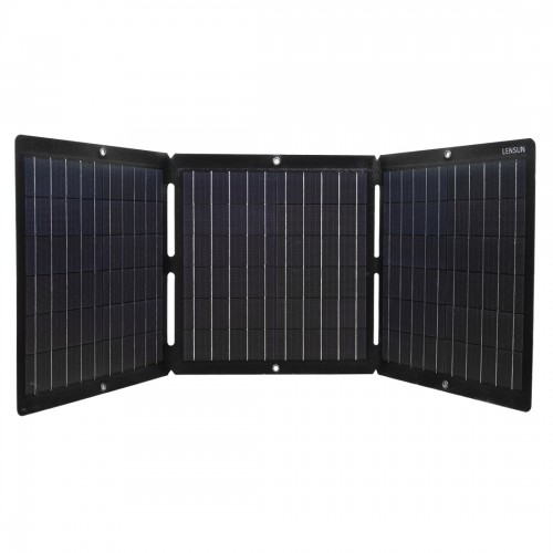 Waterproof Lensun 60W ETFE Laminated Technology Foldable Solar Panel with USB 5V and DC 18V Output for iPhone, Tablet, Laptop, Solar Generator Power Sations