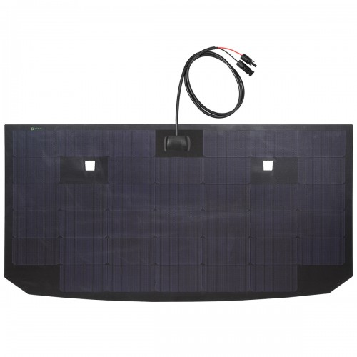 Toyota FJ Cruiser Lensun 105W Flexible Hood Solar Panel