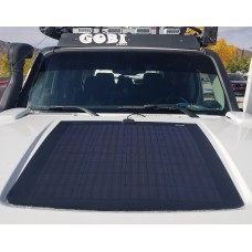 Customize for Hummer H3 Hood Lensun 90W 12V ETFE Black Flexible Solar Panel