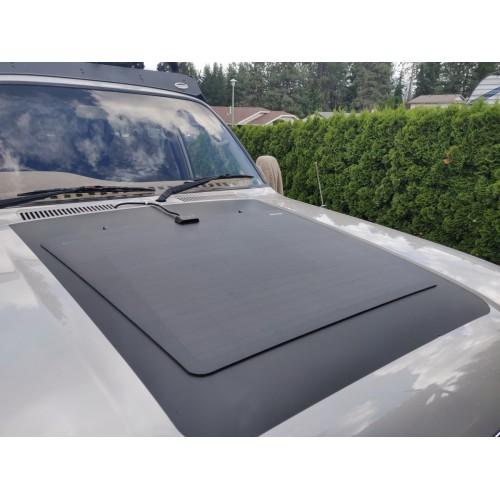 Toyota Land Cruiser 80 Series J80 Hood Lensun 80W Black ETFE Flexible Solar Panel