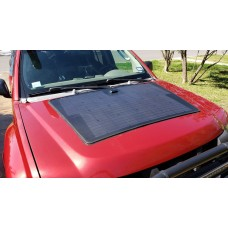 Customize for Nissan Xterra Lensun 100W Flexible Solar Panel with Rubber Strip