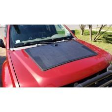 Customize for Nissan Xterra Hood Lensun 100W Flexible Solar Panel with Rubber Strip
