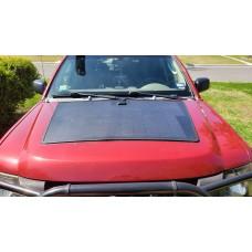 Customize for 2006 Silverado 2500 Hood Lensun 100W Flexible Solar Panel with Rubber Strip