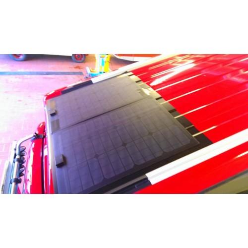 Lensun 50W 12V ETFE High Quality Black Flexible Solar Panel for VW T4 T5 Camper, Bus
