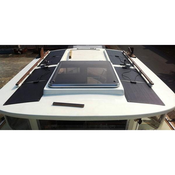 Lensun 174 55w Black Etfe Flexible Solar Panel 1070 350mm For