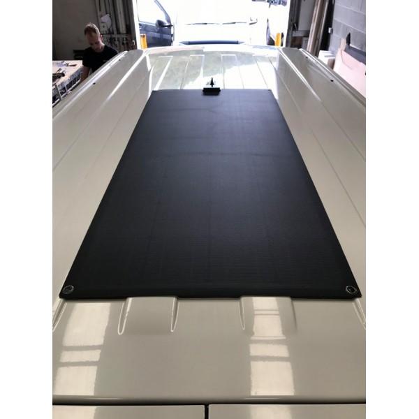 Lensun 174 80w 12v Etfe Fiberglass Black Flexible Solar Panel