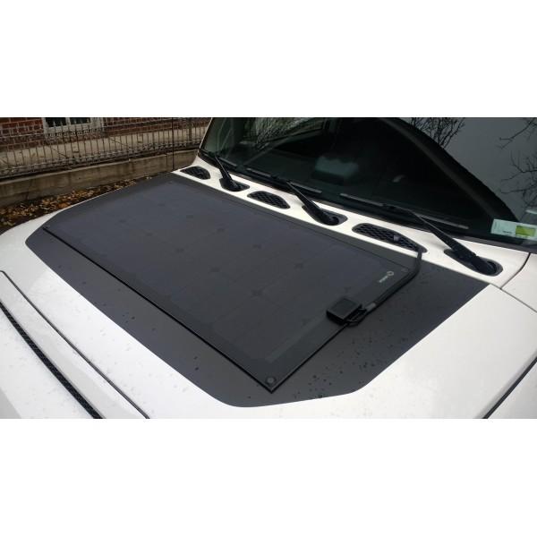Lensun® 65W 12V ETFE Black Flexible Solar Panel Lightweight Ultra