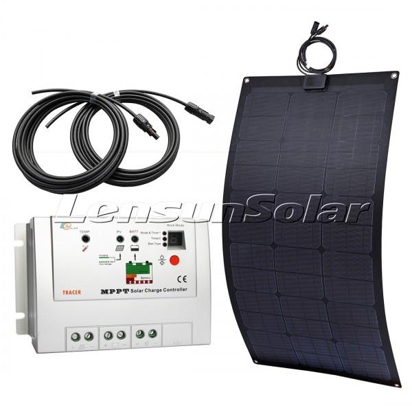Lensun 174 80w 12v Black Flexible Solar Panel Perfect Kit