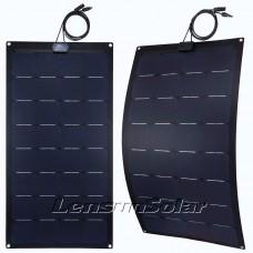 Lensun® 220W(2x110w) Sunpower Black ETFE Flexible Solar Panel, Top Quality NOT the Cheap PET Flexible Solar Panel
