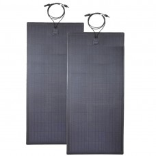 Lensun®  New 200W(2x100W) Black Flexible Solar Panel with Rubber Strip to Protect the Edge and made the solar panel stouter