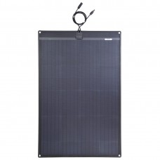 Lensun®  120W 12V Black Flexible Solar Panel with Rubber Strip for Trucks,RVs,Campers,Boats