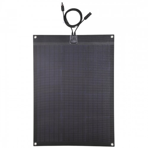 Lensun®  60W 12V ETFE Black Flexible Solar Panel For Camper, RV, Boat