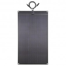 Lensun® 80W 12V ETFE Fiberglass Black Flexible Solar Panel,made of High Efficiency PERC Mono Solar Cells