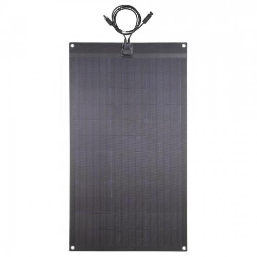 Lensun® 80W 12V ETFE Fiberglass Black Flexible Solar Panel,made of High Efficiency PERC Mono Solar Cells