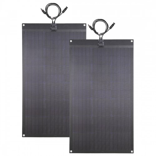 2PCS 80W(total 160W) 12V Black Flexible Solar Panel for RV,Camper,Boat,Yacht Battery Charge