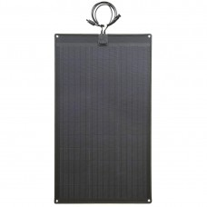 Lensun®  80W 12V ETFE Black Flexible Solar Panel with Rubber Strip to Protect the Edge made the solar panel stouter