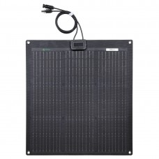Lensun New 50W 12V ETFE Black Flexible Solar Panel, adopt PERC 9BB Monocrystalline solar cells.