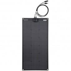 Lensun® 50W 12V ETFE High Quality Fiberglass Black Flexible Solar Panel for VW T4 Camper, Bus, RV, Sailboat, Yacht