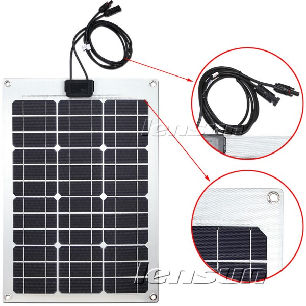Lensun 174 55w 12v Etfe Flexible Solar Panel For Truck Bus
