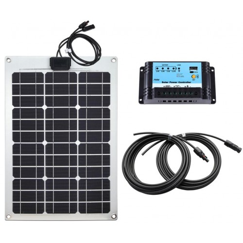 Lensun® 50W 12V ETFE Quality Flexible Solar Panel Complete Kit with 10A Controller,Cables, for VW T4 Campers and other  Bus RV