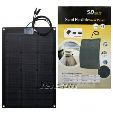 2PCS 50W(total 100Watt) 12V High ETFE Quality Black Flexible Solar Panel for RV, Camper,Boat, Solar Outdoor Camping Charge