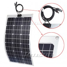Lensun® 80W 12V Flexible Solar Panel, High Qulity ETFE NOT the Cheap PET Solar Panel,for Cabin Tent Camper Car RV