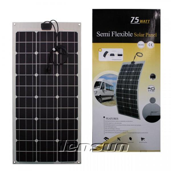 Lensun 174 80w 12v Flexible Mono Solar Panel High Qulity