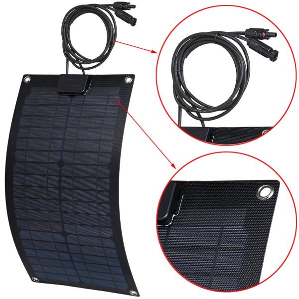 Lensun 174 Etfe 20w 12v Figerglass Back Sheet Flexible Solar