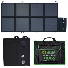 Lensun 100W 12V Portable Solar Blanket Panel Kit with Solar Controller, 5m cables