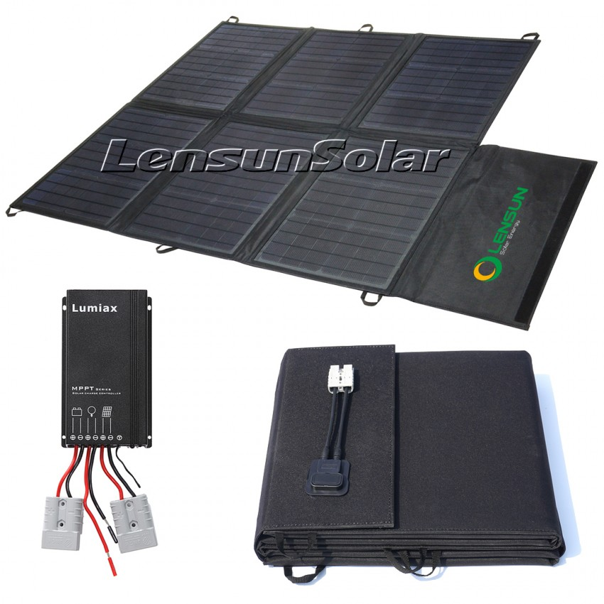 Lensun 150w 12v Portable Solar Blanket Panel Kit With Solar Controller 5m Cables Lighweight Perfect For Any Camping Lifestyle